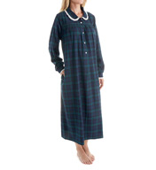 Lanz of Salzburg Long Sleeve Flannel Gown With Peter Pan Collar 5616824