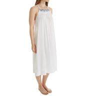 Oscar De La Renta Embroidered Cotton Lawn Long Gown 6801153