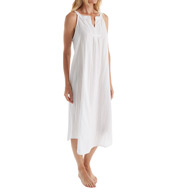 Oscar De La Renta Striped Cotton Jacquard Long Gown 6801154