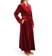 Oscar De La Renta Vibrant Velvet Robe 6851061