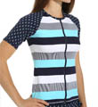 Tommy Bahama Bold Stripe & Mini Anchor Short Sleeve Rash Guard TSW25720C