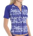 Tommy Bahama Tie Dye Short Sleeve Rash Guard With Zipper TSW81720C