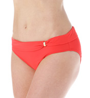 Lauren Ralph Lauren Beach Club Solids Sash Slider Hipster Swim Bottom LR6GB96