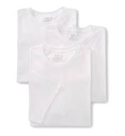Fruit Of The Loom Tall Man 100% Cotton White Crew T-Shirts - 3 Pack 2790TM