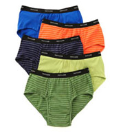 Fruit Of The Loom Big Man 100% Cotton Stripes & Solids Brief- 5 Pack 5P4619X