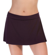 MagicSuit Solid Jersey Pull On Tennis Skirt Swim Bottom 367671
