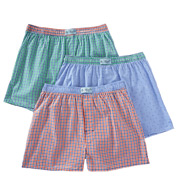 Original Penguin Volley 100% Cotton Plaid Woven Boxers - 3 Pack RPM8611
